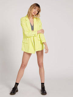 Coco Twill Blazer Tropic Yellow (B0522001_TPC) [B]