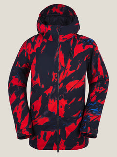 Ghost Stripe Ins Jacket - Red