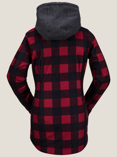 Circle Flannel Jacket - Red