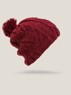 Leaf Beanie - Deep Red