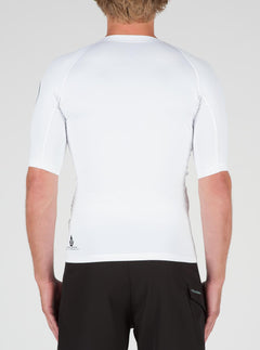 Lido Solid Short Sleeve - White