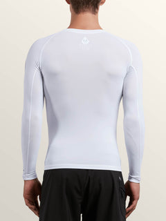 Lido Solid Long Sleeve - White