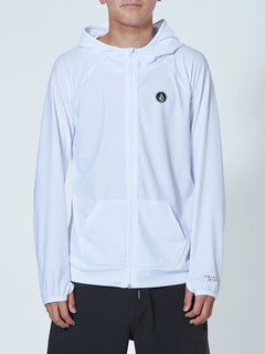 Apac TTT Long Sleeve Zip Rg - White (N03119G0_WHT) [F]