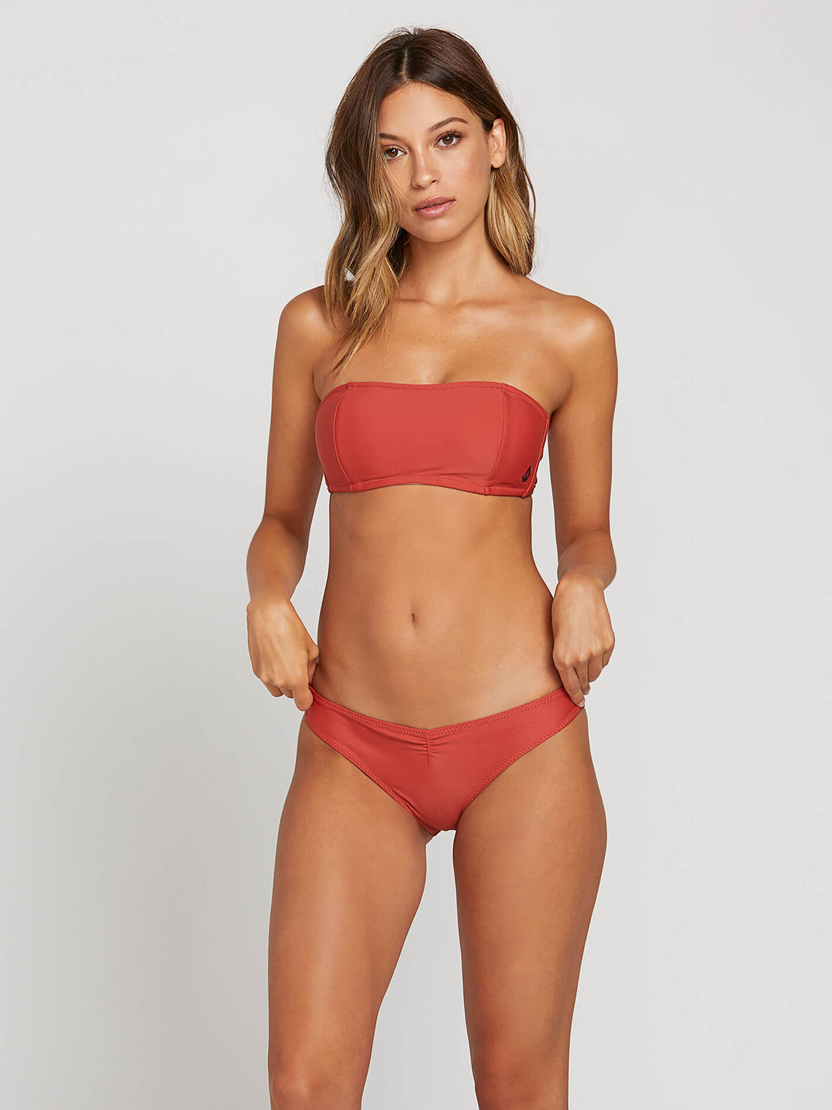 Simply Solid Bandeau Burnt Red (O1211904_BTR) [F]