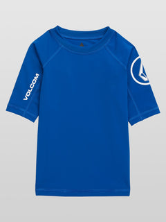 Lido Solid Short Sleeve Youth - Camper Blue