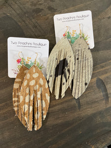 Fringed Hide Earrings