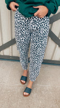 Load image into Gallery viewer, Cheetah Denim Joggers