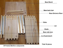 Load image into Gallery viewer, Beekeeping Starter Kit 1 New Zealand Pine Beehive & Tools