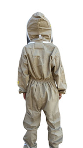 OZ ARMOUR Khaki Poly Cotton Beekeeping Suit With Fencing Veil