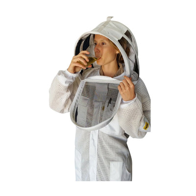 OZ ARMOUR 3 Layer Mesh Ventilated Beekeeping Suit With Fencing Veil,Beekeeping,beekeeping gear,oz armour