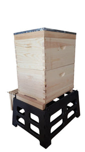 Beehive stand with frame holder