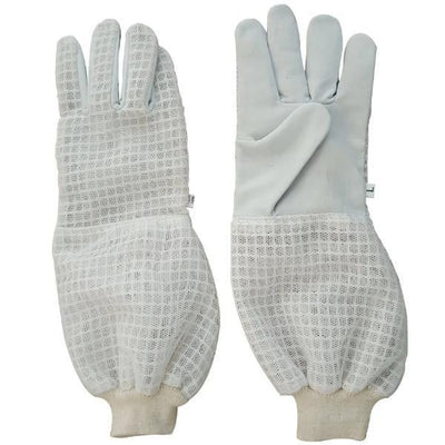OZ ARMOUR 3 Layer Mesh Ventilated Cow Hide Gloves,Beekeeping,beekeeping gear,oz armour