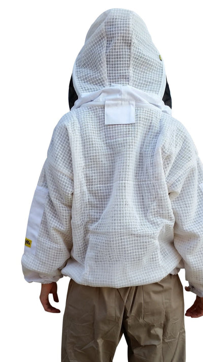 OZ ARMOUR 3 Layer Mesh Ventilated Beekeeping Jacket With Fencing Veil,Beekeeping,beekeeping gear,oz armour