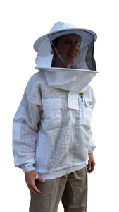 OZ ARMOUR 3 Layer Mesh Ventilated Beekeeping Jacket With Round Hat Veil