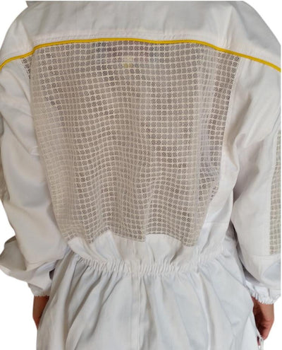 OZ ARMOUR Poly Cotton Semi Ventilated Beekeeping Suit With Fencing Veil,Beekeeping,beekeeping gear,oz armour