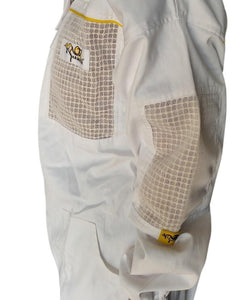 OZ ARMOUR Poly Cotton Semi Ventilated Beekeeping Suit With Fencing Veil