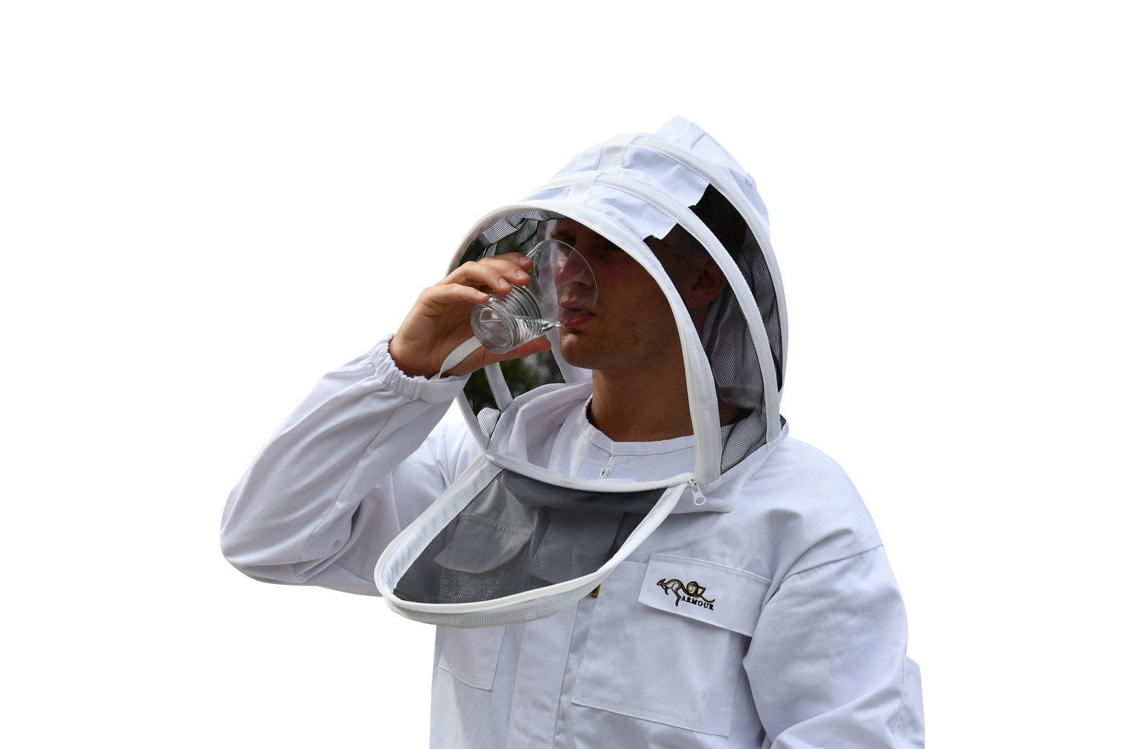 OZ ARMOUR Poly Cotton Beekeeping Suit With Fencing Veil,Beekeeping,beekeeping gear,oz armour