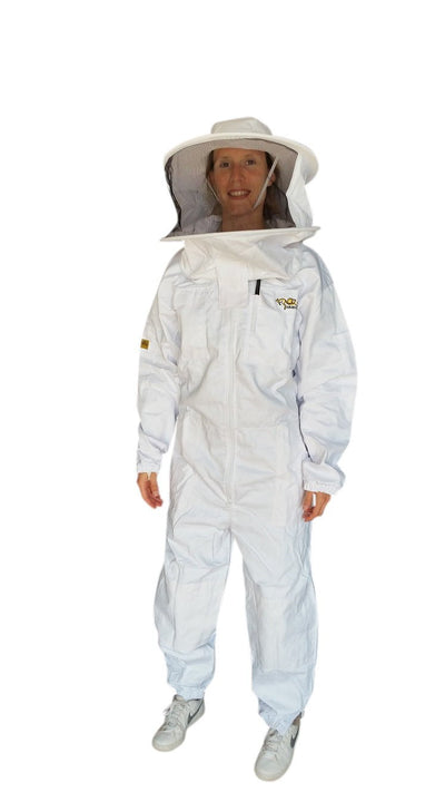 OZ ARMOUR Poly Cotton Beekeeping Suit With Round Hat Veil,Beekeeping,beekeeping gear,oz armour
