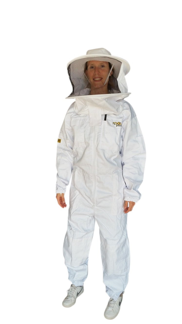 OZ ARMOUR Poly Cotton Beekeeping Suit With Round Hat Veil