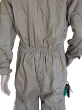 Load image into Gallery viewer, OZ ARMOUR Khaki Poly Cotton Beekeeping Suit With Fencing Veil