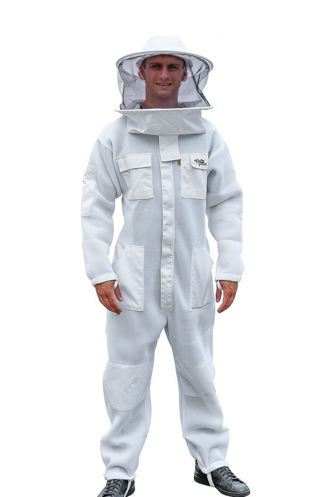 OZ ARMOUR Beekeeping Suit Ventilated Super Cool Air Mesh with Round Brim Hat Beekeeper Costume Kit,Beekeeping,beekeeping gear,oz armour