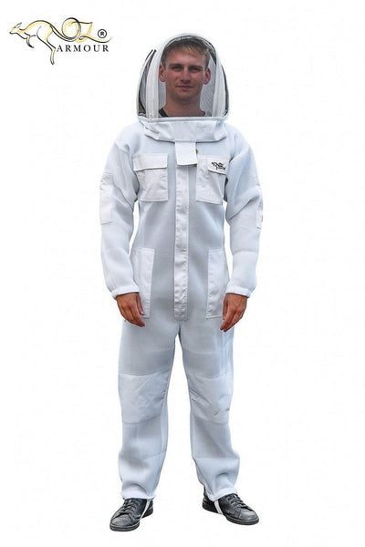 OZ ARMOUR Double Layer mesh Ventilated Beekeeping Suit With Fencing Veil,Beekeeping,beekeeping gear,oz armour