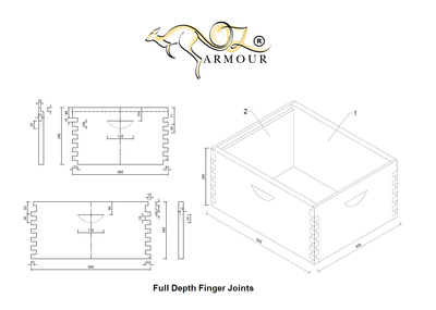 OZ ARMOUR  Full Depth Beehive Boxes Premium Quality Finger Joints