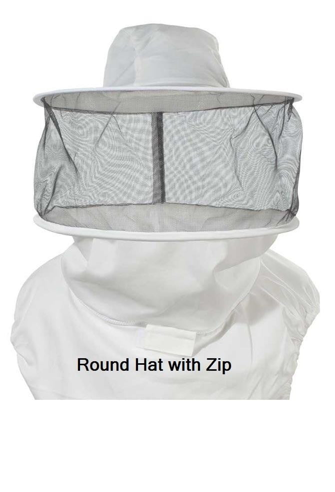 OZ ARMOUR Round Hat Veil With Zipper,Beekeeping,beekeeping gear,oz armour