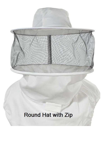 OZ ARMOUR Round Hat Veil With Zipper