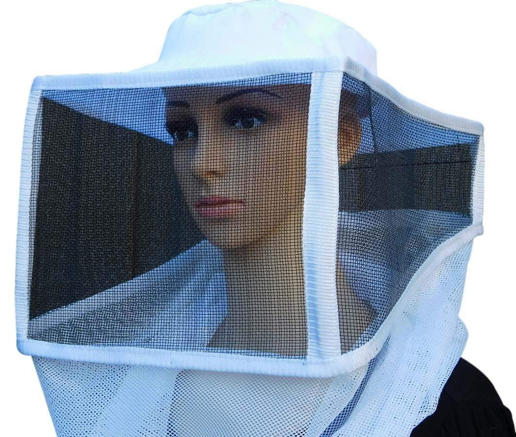 OZ ARMOUR Square Hat Veil With Metallic Mesh & Strings,Beekeeping,beekeeping gear,oz armour