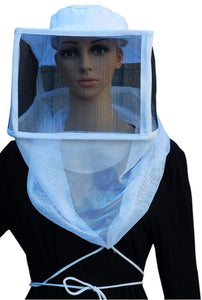 OZ ARMOUR Square Hat Veil With Metallic Mesh & Strings