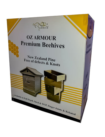 Oz-ARMOUR Gabled Telescopic Beehive With Mesh Bottom Board Beetle Trap