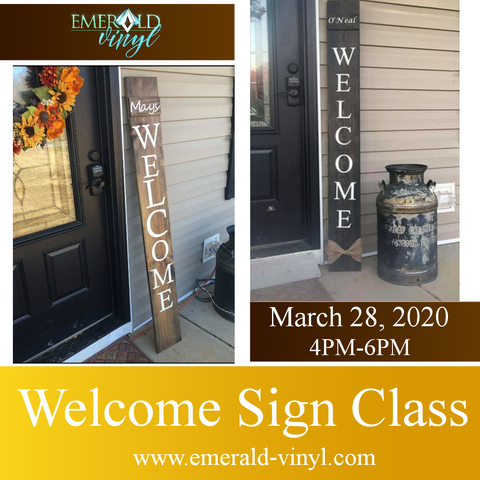 Welcome Sign Class