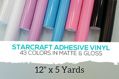 "Starcraft Adhesive Vinyl (Permanent) - 12"" x 5 Yards"