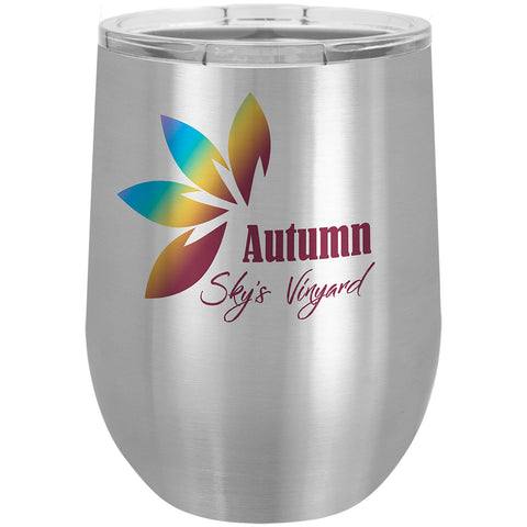 Sublimation 12oz Stemless Tumbler w/ Lid (Stainless Steel)