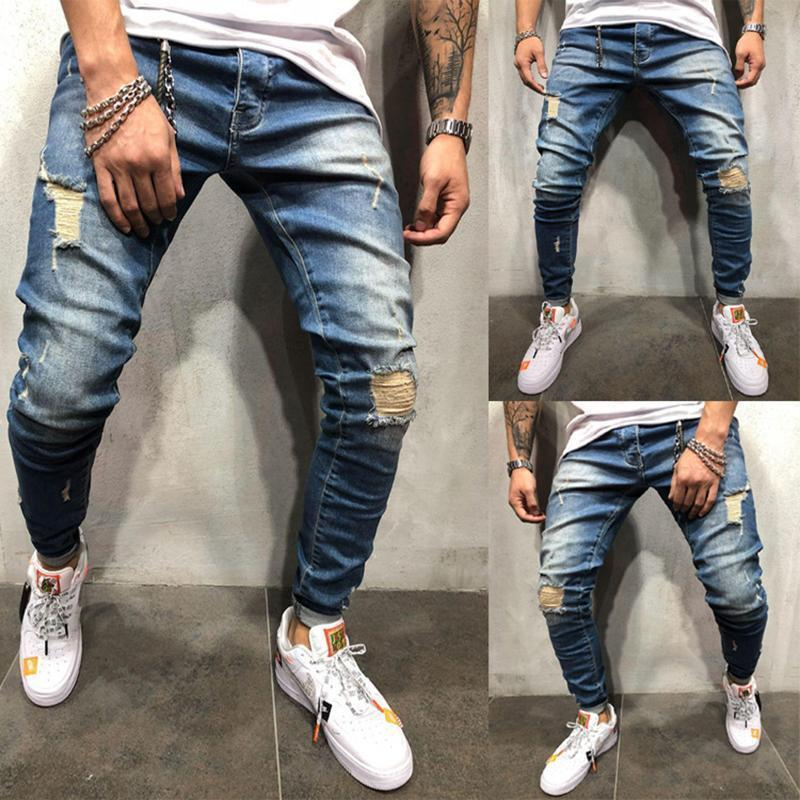 New Fashion Men's Hole Jeans