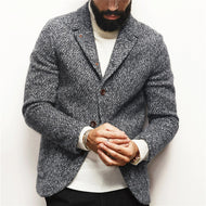 Casual Long Sleeve Single Breasted Overcoat
