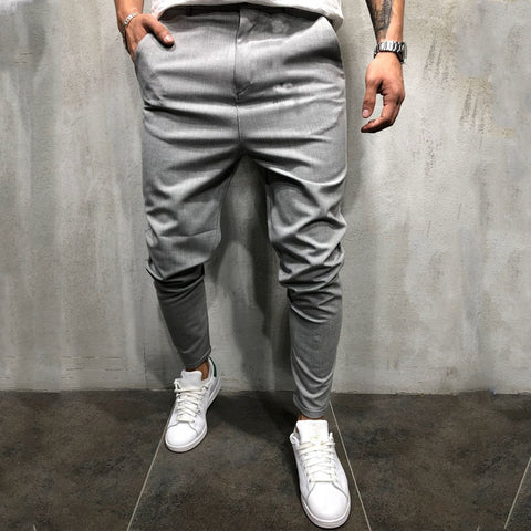Men's Fashion Simple Pure Colour Casual Pants