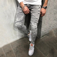 Fashion Individuality Broken Hole Washed Jeans