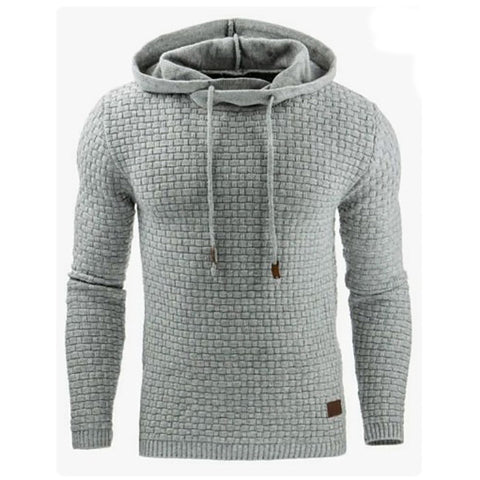 Men's Sportive Pure Color Round Neck Long Sleeve Hoodie