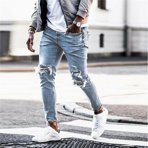 Men's Casual Fashion Hole Jeans