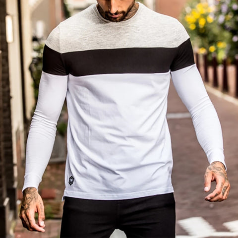 Men's Casual Colorblock Top
