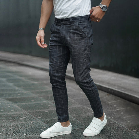 Men's Fashion Check Casual Pants