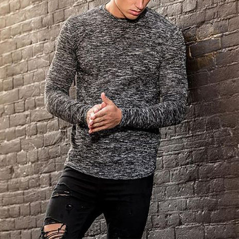 Men's Casual Round Neck Long Sleeve Top