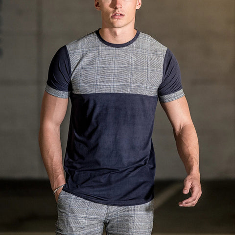 Men's Outdoor Casual Colorblock Short Sleeve T-Shirt