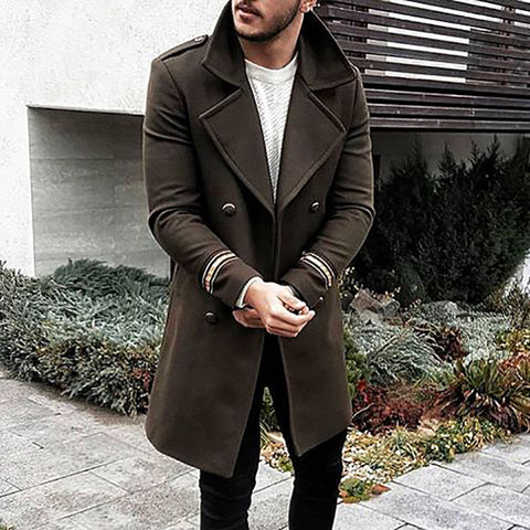Men's Double Breasted Lapel Coat