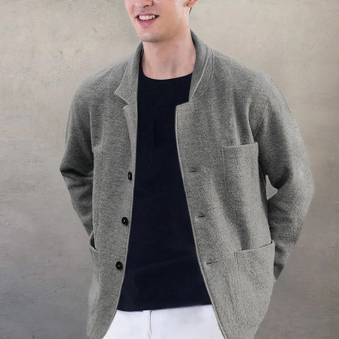 Casual Single-breasted Long Sleeve Hairy Jacket