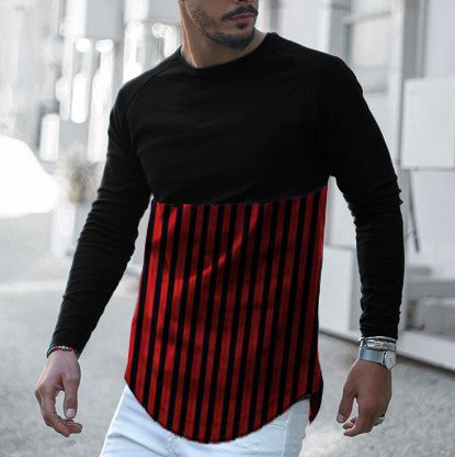 Mens Casual Striped T-Shirt