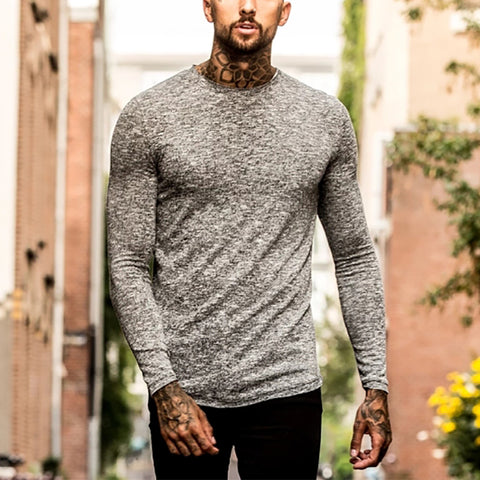 Men's Casual Solid Long Sleeve Top