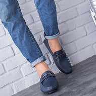 Casual leather bean shoes